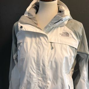 The North Face Jackets & Coats - Women's North Face Shell Jacket White/Gray